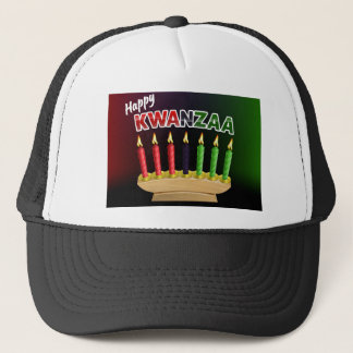 Happy Kwanzaa Candles Design Trucker Hat