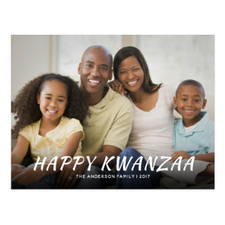 Happy Kwanzaa Elegant Photo Holiday Event Invite Postcard