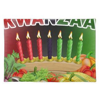 Happy Kwanzaa First Harvest Design Placemat