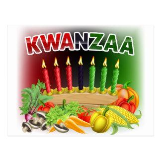 Happy Kwanzaa First Harvest Design Postcard
