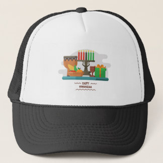 happy kwanzaa gifts trucker hat