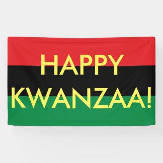 Happy Kwanzaa Red Black Green RBG UNIA Flag Banner