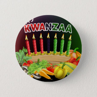 Happy Kwanzaa Sign 2 Inch Round Button