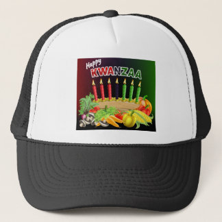 Happy Kwanzaa Sign Trucker Hat