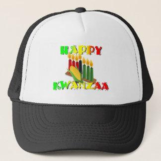 HAPPY KWANZAA TRUCKER HAT