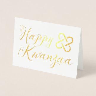 Happy kwanzaa umoja gold foil foil card