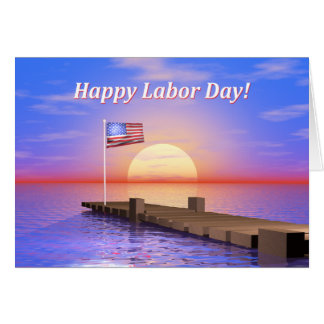 Happy Labor Day Dock Card