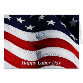 Happy Labor Day US Flag Card