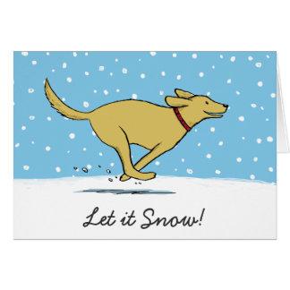 Happy Labrador Retriever Let it Snow Dog Christmas Card