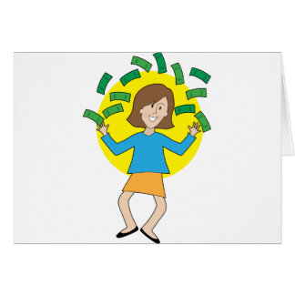 Happy Lady and Money Card