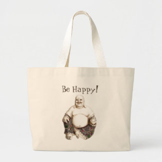 Happy, laughing, good luck, good fortune Buddha Large Tote Bag