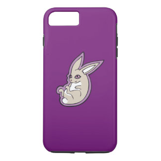 Happy Lavender Rabbit Pink Eyes Ink Drawing Design iPhone 7 Plus Case