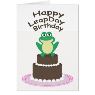 Happy Leap Day Birthday Card
