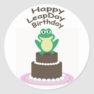 Happy Leap Day Birthday Stickers