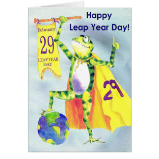 Happy Leap Year Day Card Frog