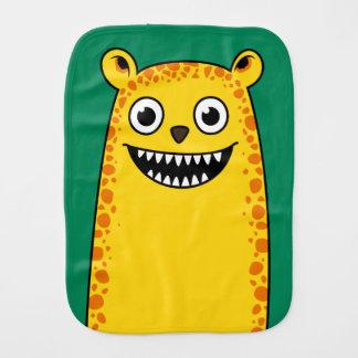 Happy leopard burp cloths