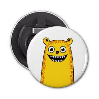 Happy leopard button bottle opener