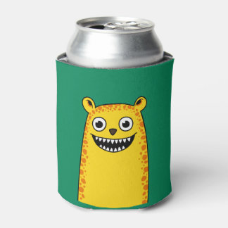 Happy leopard can cooler