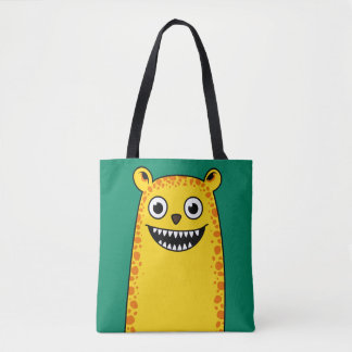 Happy leopard tote bag