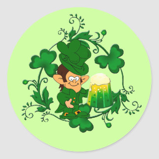Happy Leprechaun Stickers