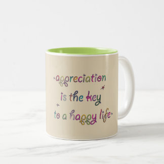Happy life Two-Tone coffee mug