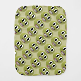 Happy Lima Bean Burp Cloth