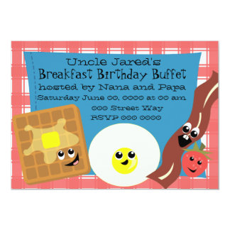 "Happy Little Breakfast 5"" X 7"" Invitation Card"
