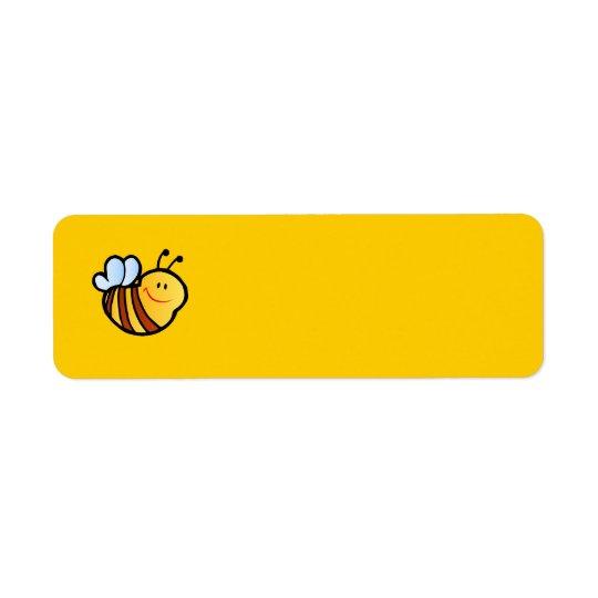 HAPPY LITTLE BUMBLEBEE BEE CARTOON CUTE HONEY INSE RETURN ADDRESS LABEL