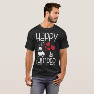 Happy Little Camper Cute Glamping Camping T-Shirt