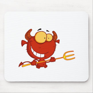 Happy-little-devil-with-pitchfork Mouse Pad