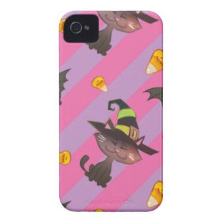 Happy Little Halloween Bat and Cat Case-Mate iPhone 4 Cases