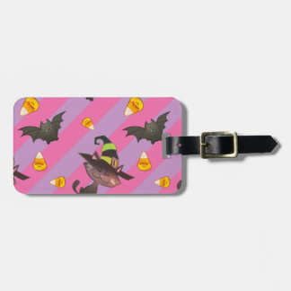 Happy Little Halloween Bat and Cat Luggage Tag