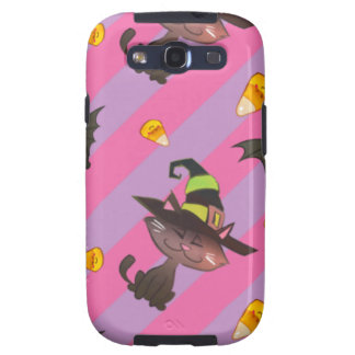 Happy Little Halloween Bat and Cat Samsung Galaxy S3 Cases