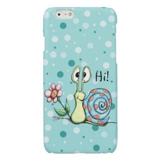 Happy Little Snail Says Hi! iphone 6s phone case
