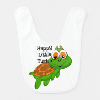 Happy Little Turtle Baby Bib