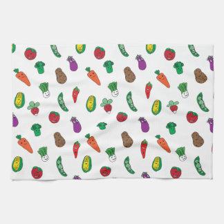 Happy Little Veggie Friends Towel