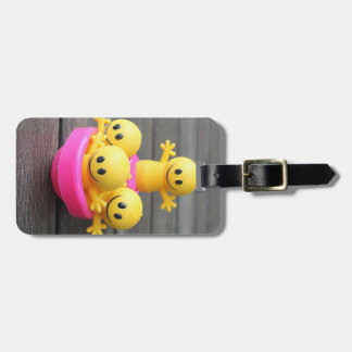 Happy Little Yellow Men Luggage Tag