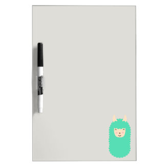 Happy Llama Emoji Dry Erase Board