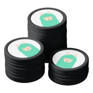 Happy Llama Emoji Poker Chips