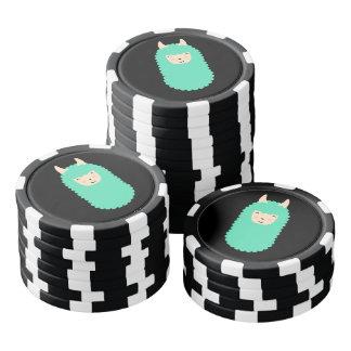 Happy Llama Emoji Poker Chips Set