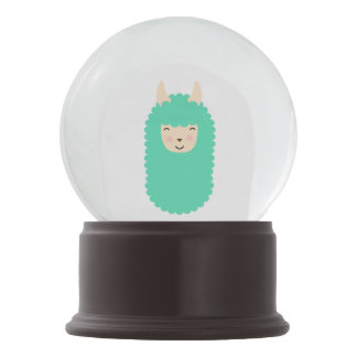 Happy Llama Emoji Snowglobe