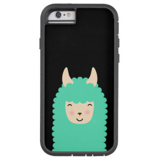 Happy Llama Emoji Tough iPhone Case
