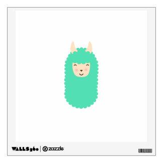 Happy Llama Emoji Wall Decal