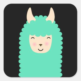 Happy Llama Peekaboo Stickers