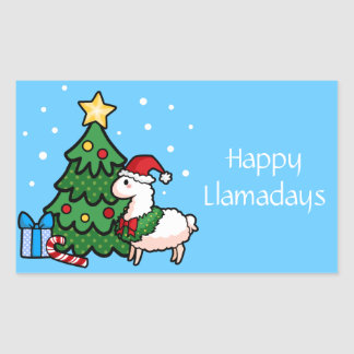 Happy Llamadays Sticker