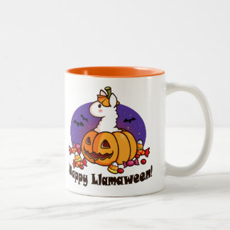 Happy Llamaween Two-Tone Coffee Mug