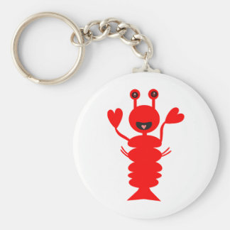 Happy Lobster Keychain