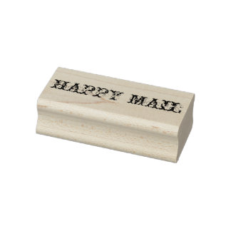 Happy mail rubber stamp, happy mail, diy, crafts rubber stamp