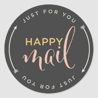 Happy Mail Sticker with Arrows