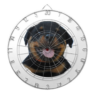 Happy Male Rottweiler Puppy Dartboard